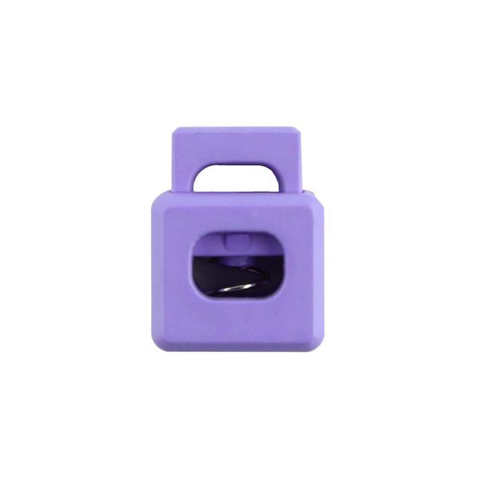 Lilac Block Style Plastic Cord Lock