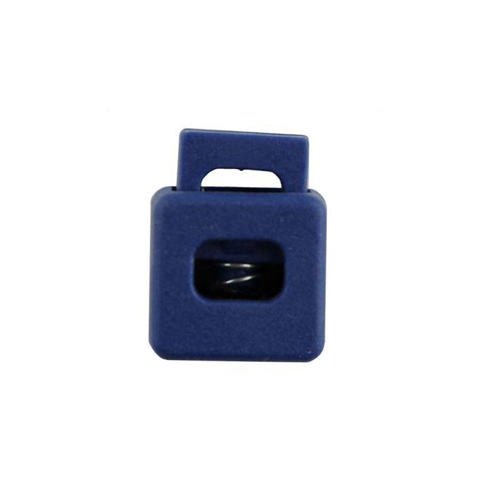 Navy Blue Block Style Plastic Cord Lock