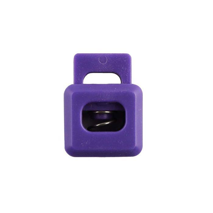 Purple Block Style Plastic Cord Lock