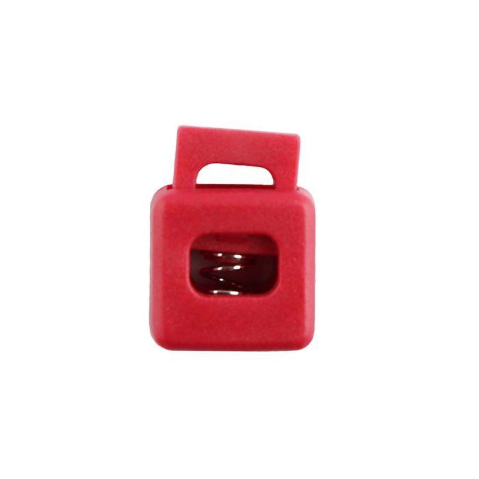 Red Block Style Plastic Cord Lock