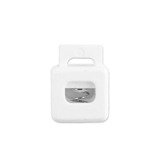 White Block Style Plastic Cord Lock