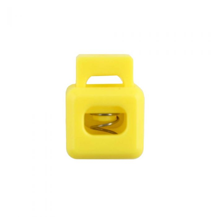 Yellow Block Style Plastic Cord Lock