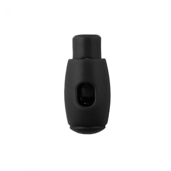 Black Bowling Pin Style Plastic Cord Lock