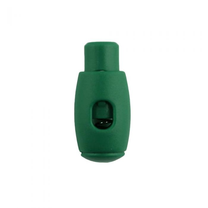 Green Bowling Pin Style Plastic Cord Lock