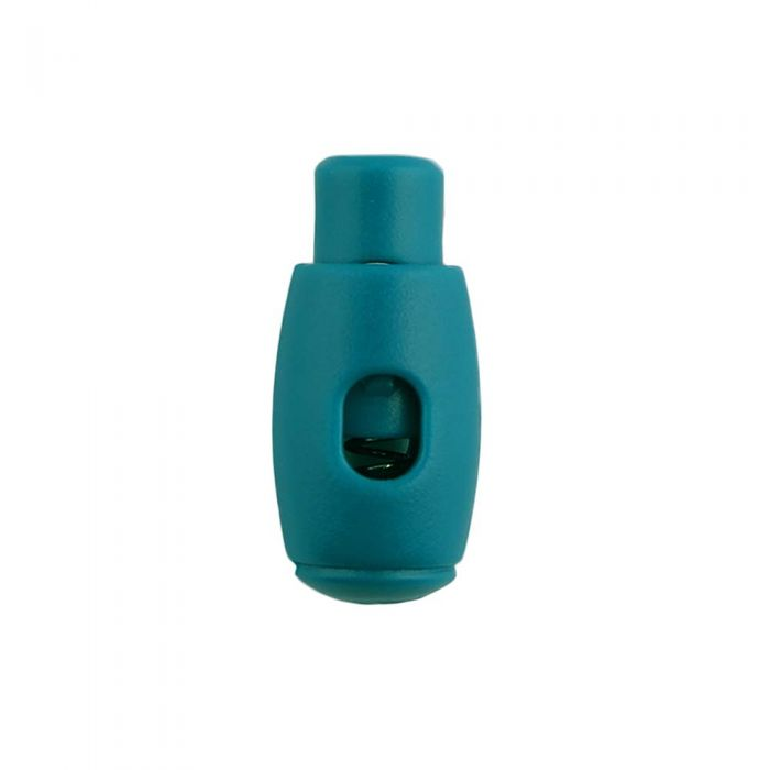 Teal Bowling Pin Style Plastic Cord Lock
