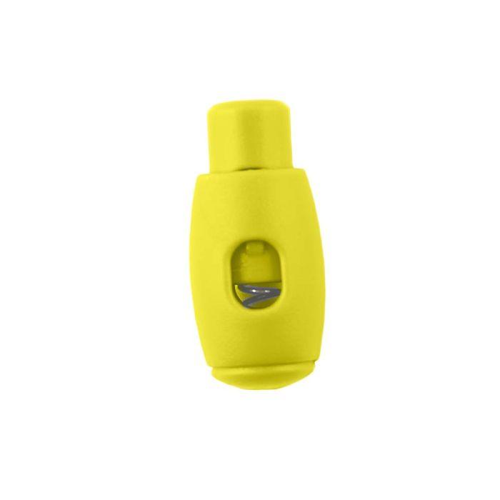 Yellow Bowling Pin Style Plastic Cord Lock