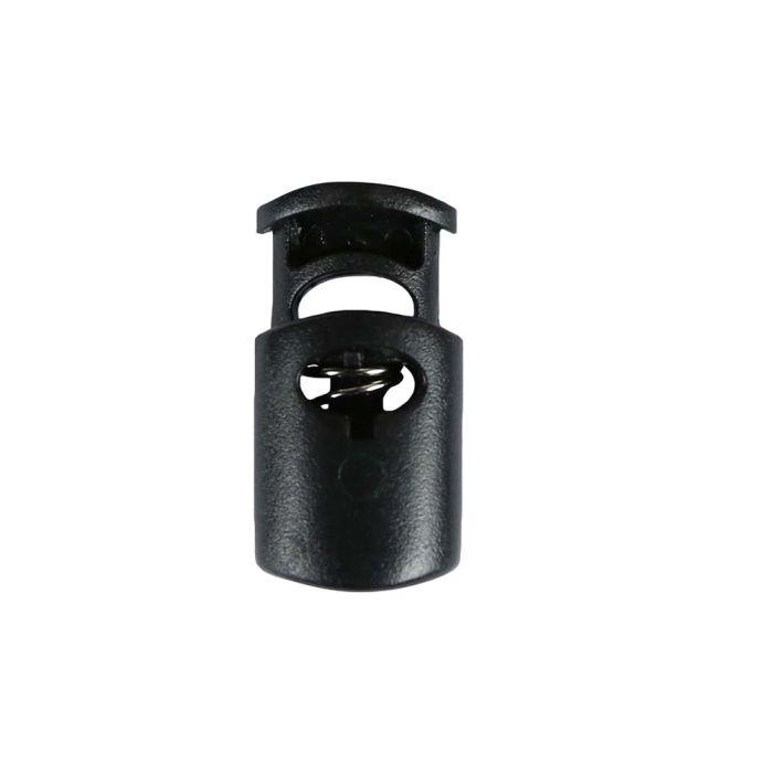 Black Ellipse Style Plastic Cord Lock