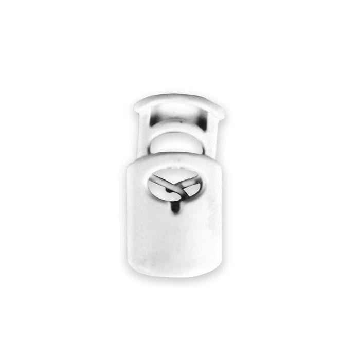 White Oval Style Plastic Cord Lock