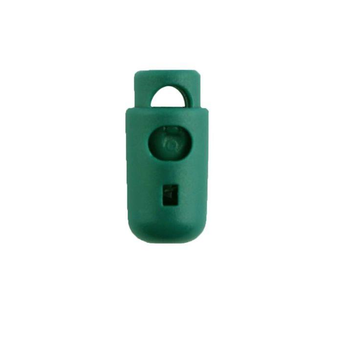 Green Round Barrel Style Plastic Cord Lock