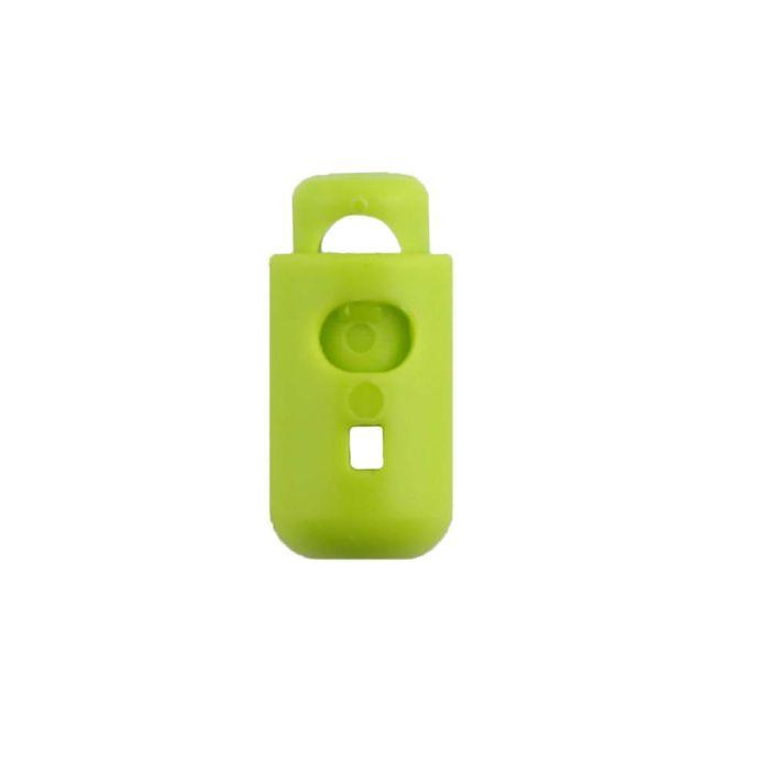 Lime Round Barrel Style Plastic Cord Lock