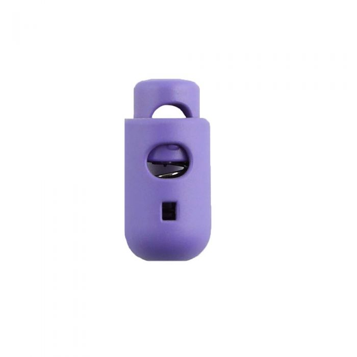 Lilac Round Barrel Style Plastic Cord Lock