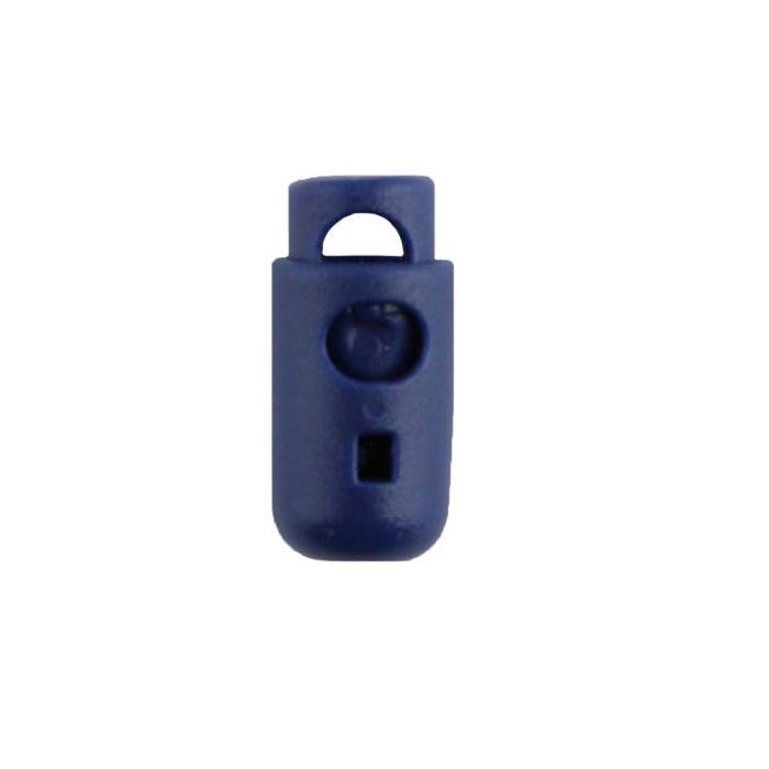 Navy Blue Round Barrel Style Plastic Cord Lock