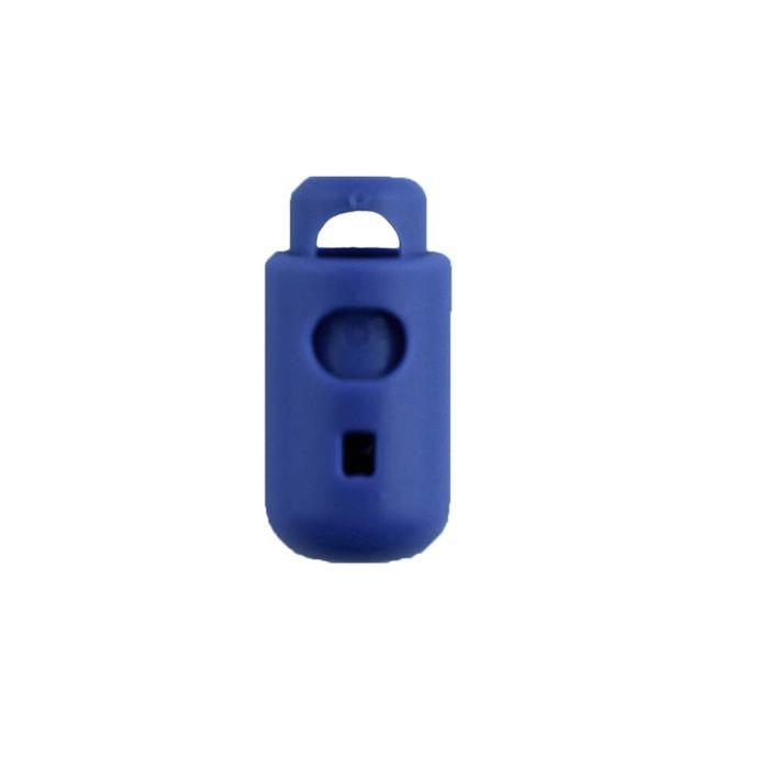 Pacific Blue Round Barrel Style Plastic Cord Lock