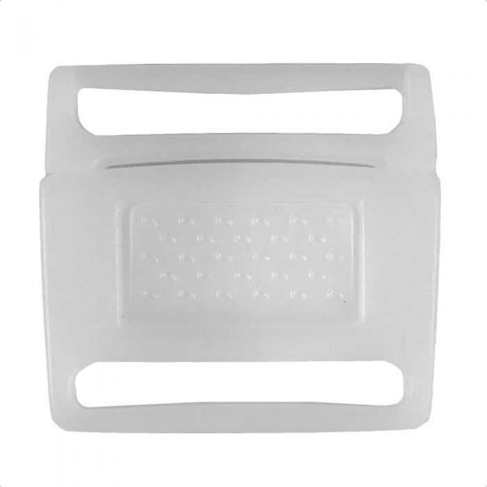 1 Inch Plastic Center Release Buckle No Adjust White