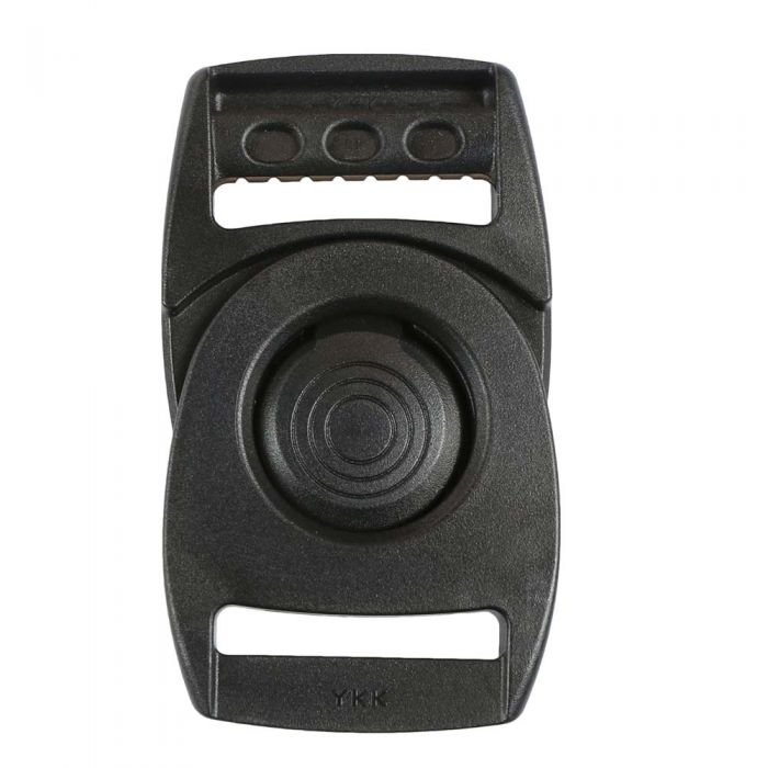 1 Inch Plastic Rotating Center Release Buckle Black