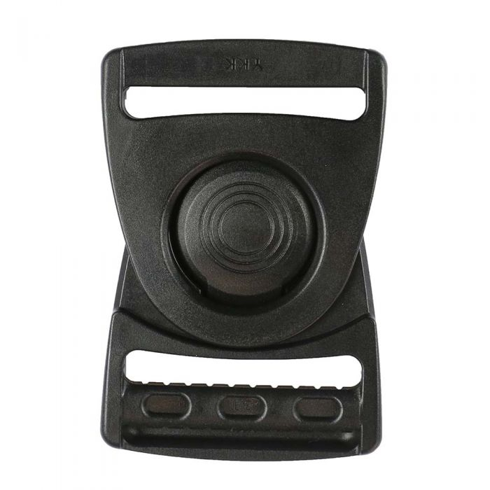 1-1/2 Inch Plastic Rotating Center Release Buckle Black
