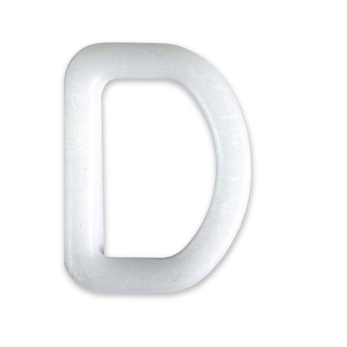 1 Inch Plastic D-Ring White