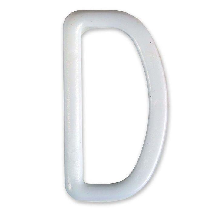 2 Inch Plastic D-Ring White