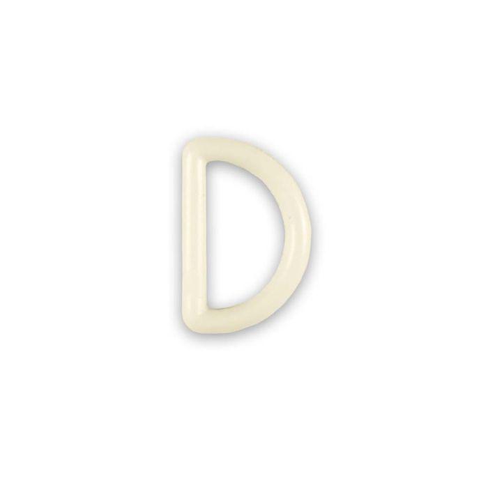 3/4 Inch Plastic D-Ring Cream