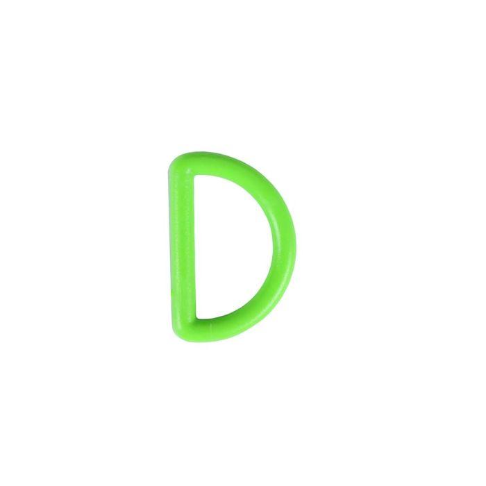 3/4 Inch Plastic D-Ring Hot Green