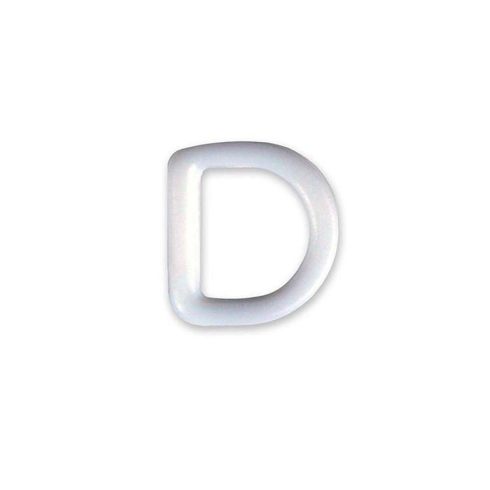 3/4 Inch Plastic D-Ring White