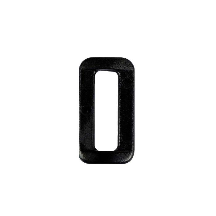 1 Inch Plastic Loop Wide Mouth Black