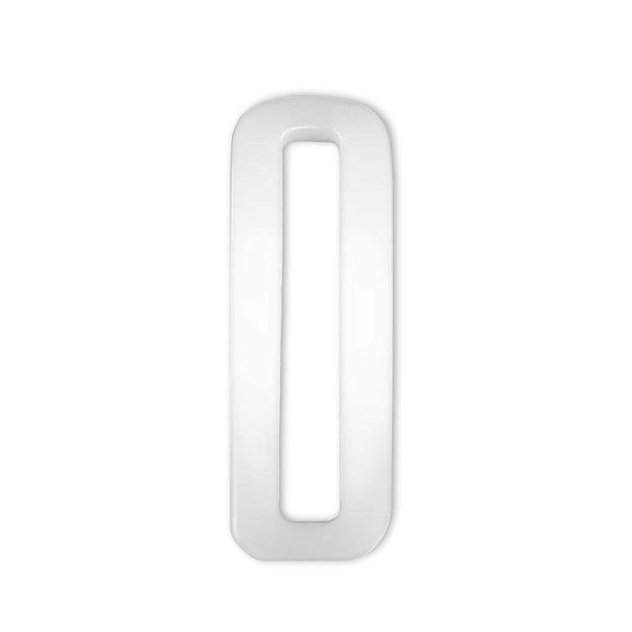 2 Inch Plastic Loop White