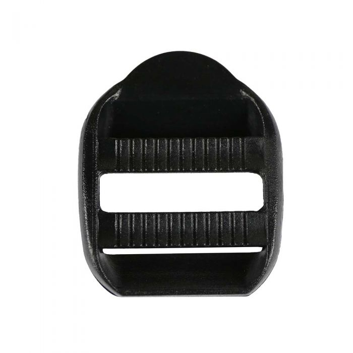 1 Inch Plastic Strap Adjuster Double Adjust Black