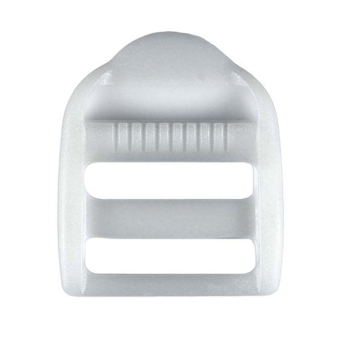 1 Inch White Plastic Strap Adjuster