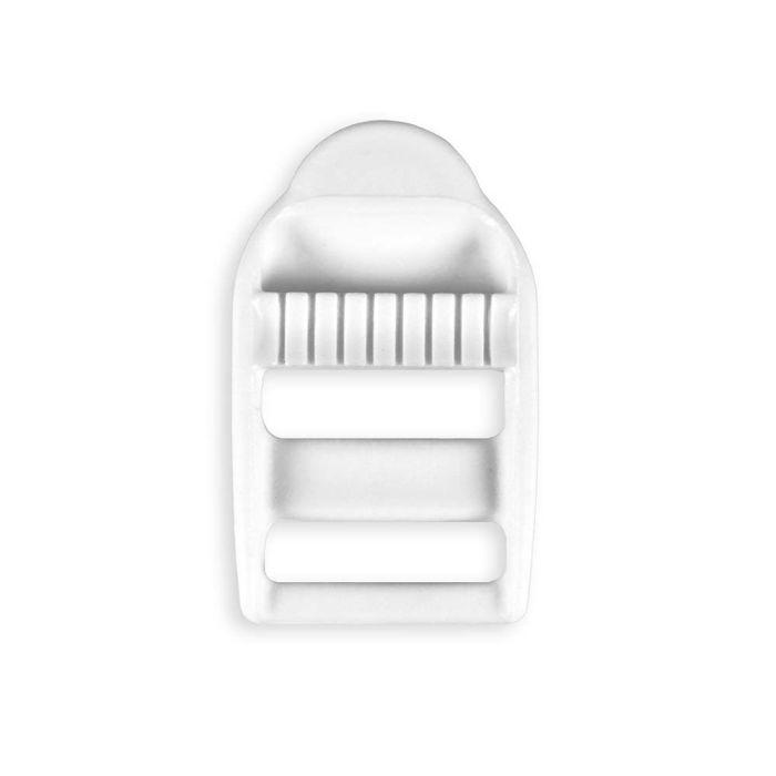 3/4 Inch White Plastic Strap Adjuster