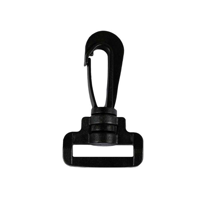 1 Inch Plastic Rotating Snap Hook Black