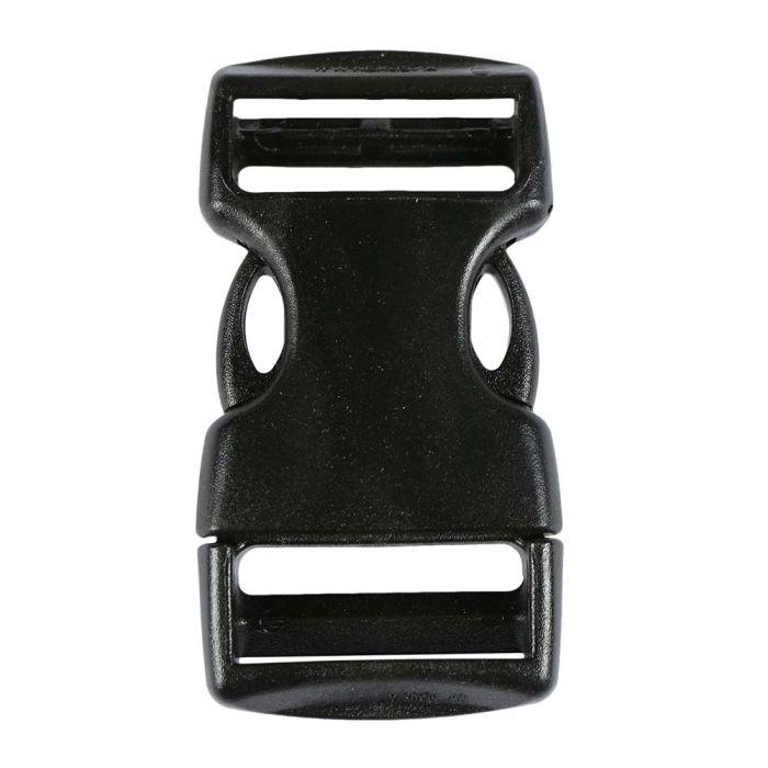 1 Inch Plastic Side Release Buckle Nexus Double Adjust Black