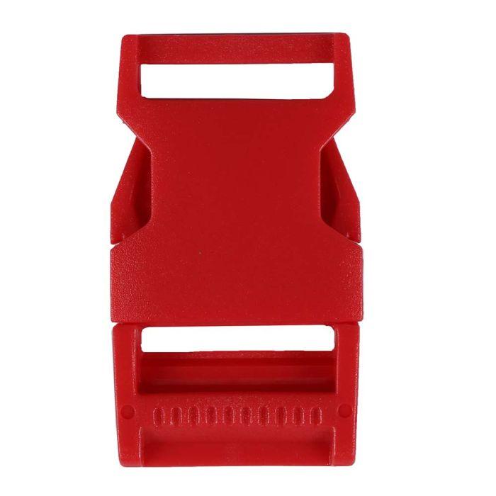 1 Inch Plastic Side Release Buckle Single Adjust Squared Blood Orange