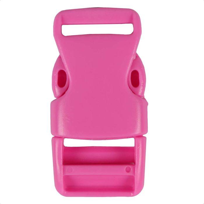 1 Inch Plastic Side Release Buckle Single Adjust Squared Ballet Slipper Pink