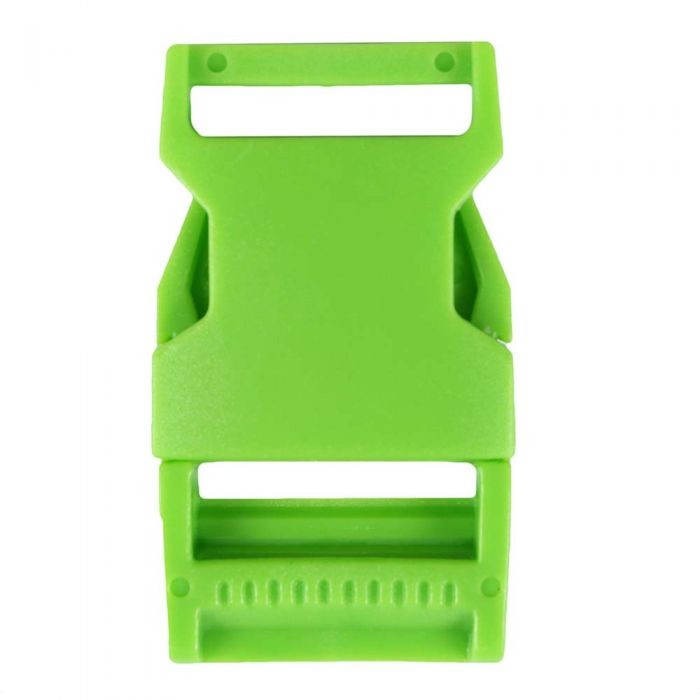 1 Inch Plastic Side Release Buckle Single Adjust Squared Grass Green