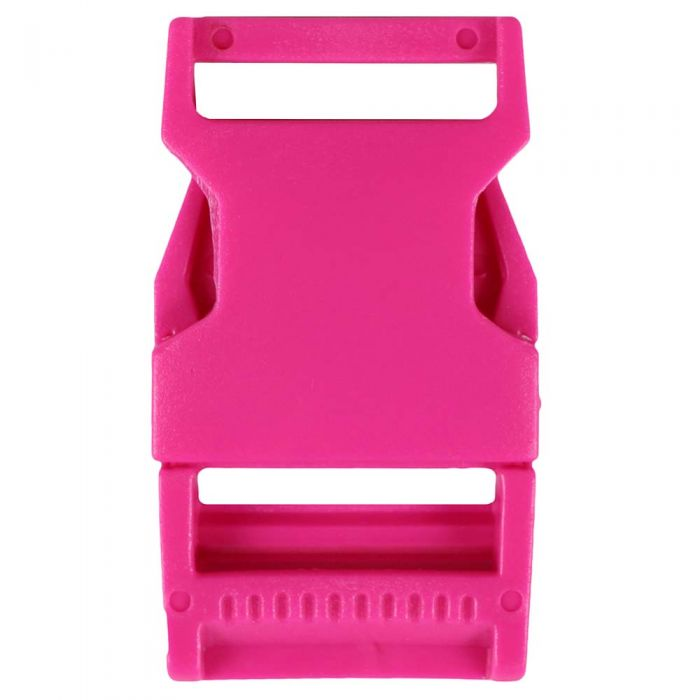 1 Inch Plastic Side Release Buckle Single Adjust Squared Rose Pink