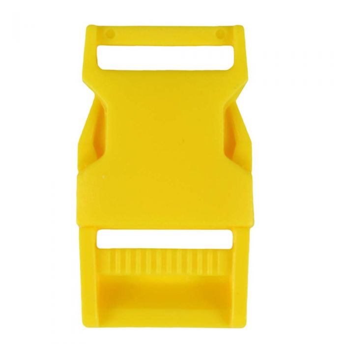 1 Inch Plastic Side Release Buckle Single Adjust Squared Yellow