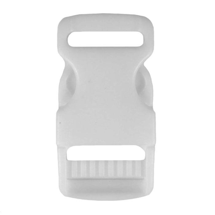1 Inch Plastic Side Release Buckle Single Adjust White