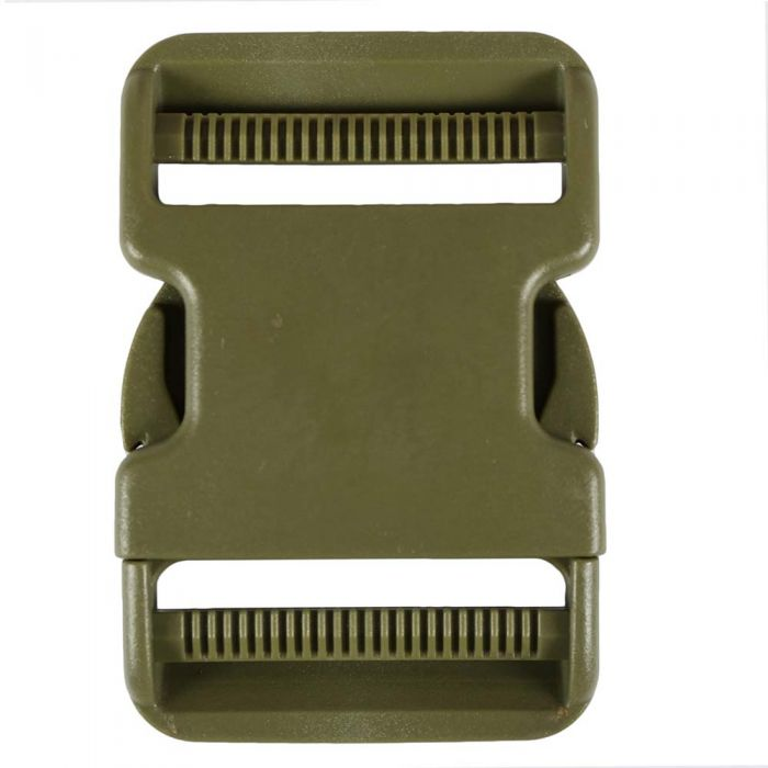 2 Inch Plastic Side Release Buckle Double Adjust Army Green