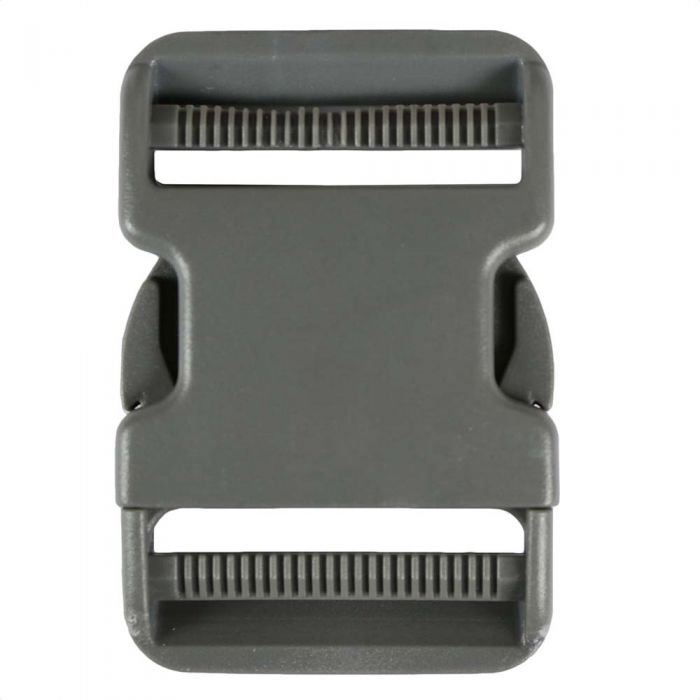 2 Inch Plastic Side Release Buckle Double Adjust Charcoal