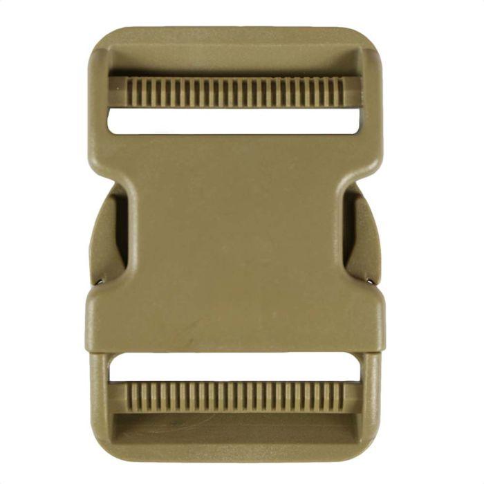 2 Inch Plastic Side Release Buckle Double Adjust Desert Tan