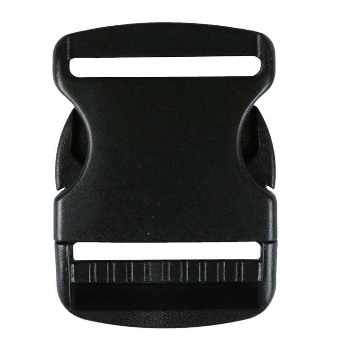 2 Inch Plastic Side Release Buckle Single Adjust Black