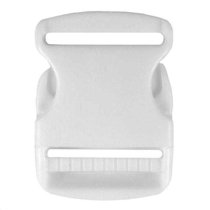 2 Inch Plastic Side Release Buckle Single Adjust White