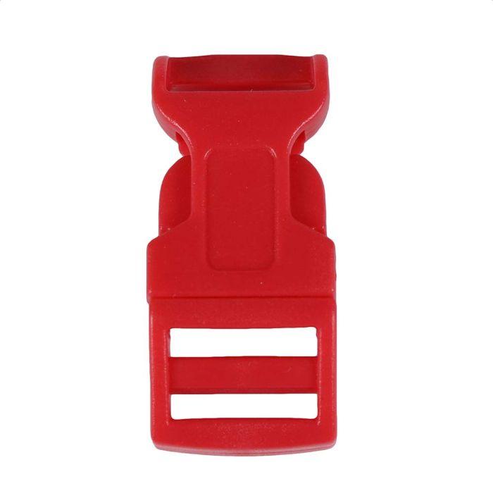 1/2 Inch Plastic Side Release Buckle Single Adjust Contoured Blood Orange