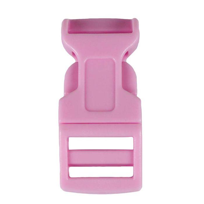 1/2 Inch Plastic Side Release Buckle Single Adjust Contoured Ballet Slipper Pink
