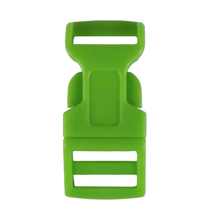 1/2 Inch Plastic Side Release Buckle Single Adjust Contoured Grass Green