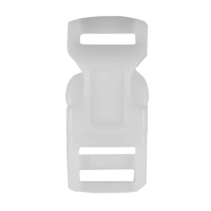 1/2 Inch Plastic Side Release Buckle Single Adjust White