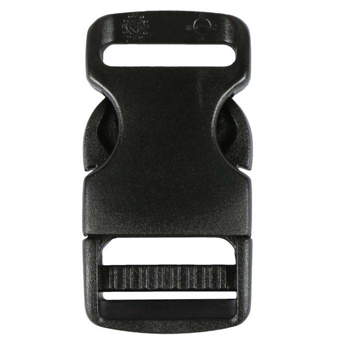 3/4 Inch Plastic Side Release Buckle Single Adjust Black