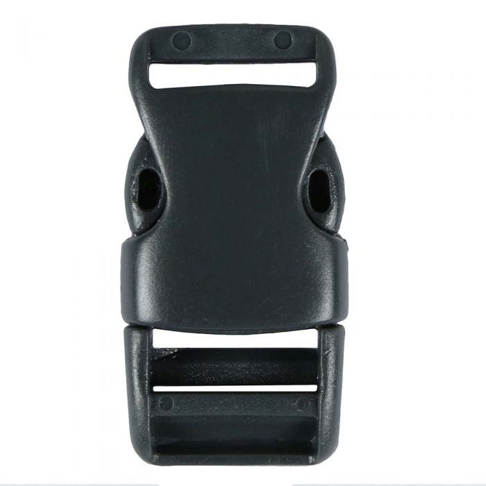 3/4 Inch Plastic Side Release Buckle Single Adjust Charcoal