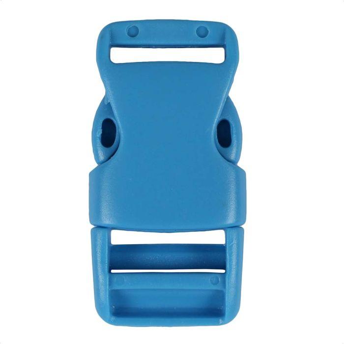 3/4 Inch Plastic Side Release Buckle Single Adjust Tiffany Blue